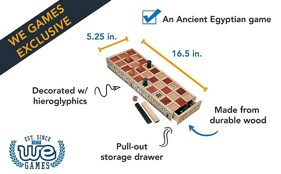 senet board game wood ancient