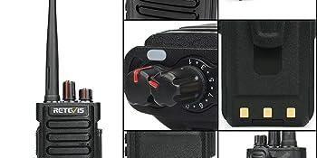 The detail display of RT29 walkie talkies
