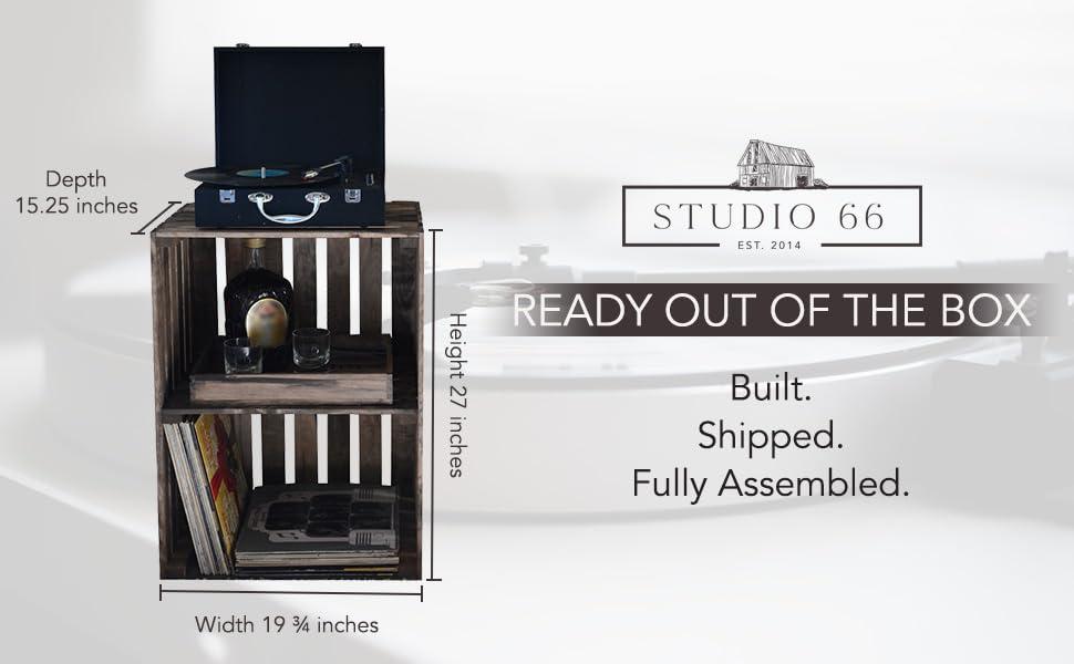Natural LP Stand - Full Assembled