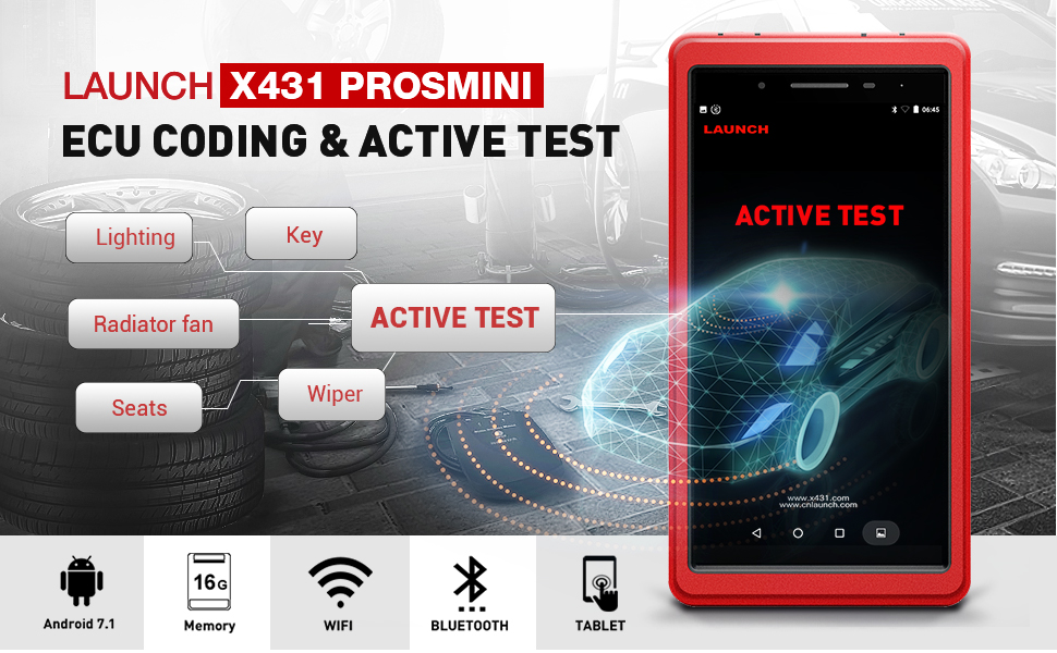 Launch X431 PROS Mini Bi-Directional Diagnostic Scan Tool Full System  Automotive OBD2 Scanner Code Reader IMMO Injector ECU Coding TPMS ABS  Bleeding