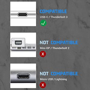 Estación de acoplamiento de concentrador USB C