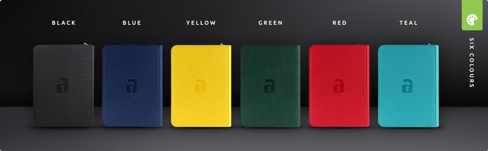 Vault X Premium eXo-Tec Zip Binders are available in 6 unique colours