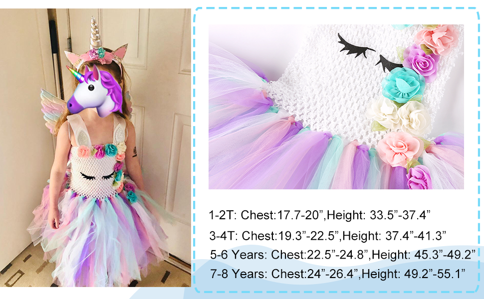 kids unicorn costume for girls