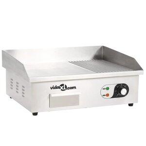 vidaXL Plancha électrique Acier inoxydable 3000 W 54 x 41 x 24 cm