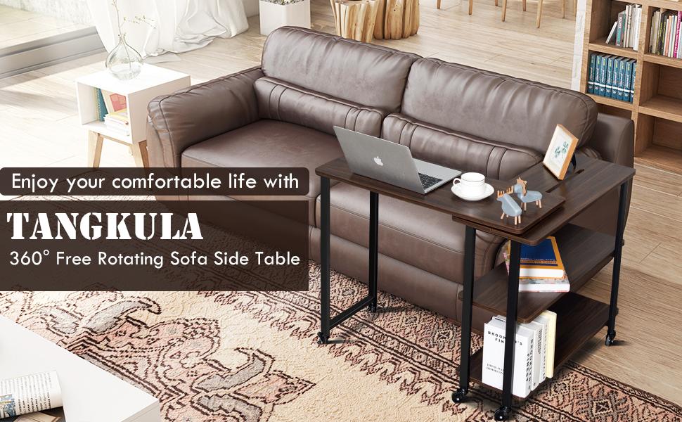 mobile sofa side table