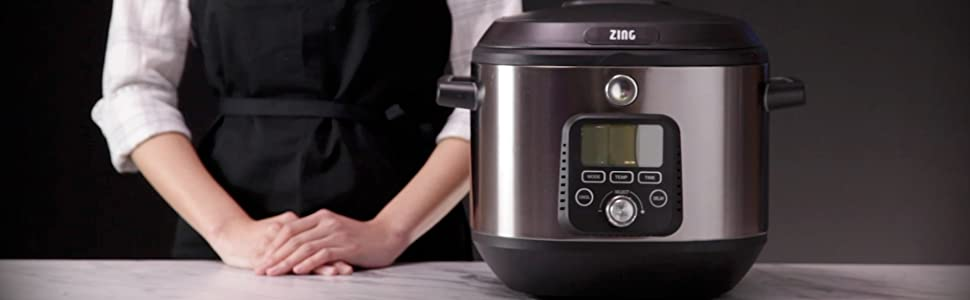 Girl with Zing Sous Vide Multi-cooker