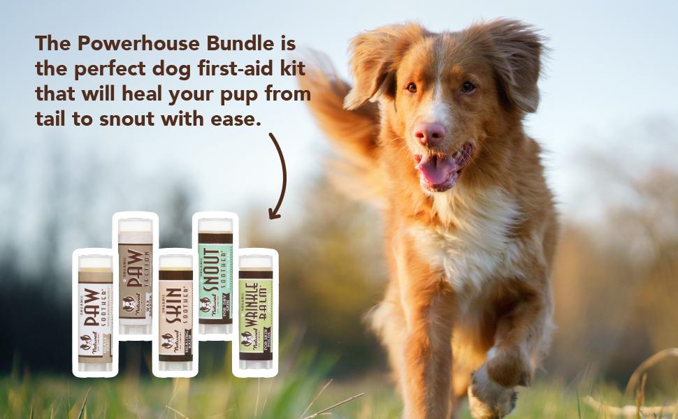 natural dog company bundle dog paw balm dog hot spot