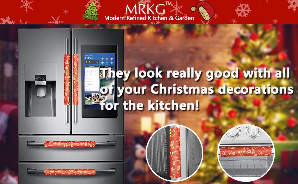 Christmas Refrigerator Handle Covers