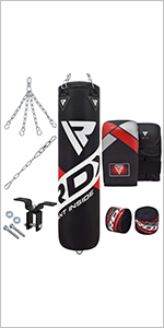 Bracket. WARX 14 Piece Boxing Set 4ft//5ft Filled Heavy Punch Bag Gloves Chain