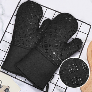 oven mitts heat resistant silicone