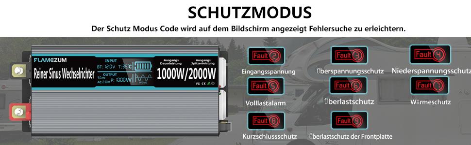 1000 W Pure Sine Wave Voltage Converter Car Inverter 12 Elektronik