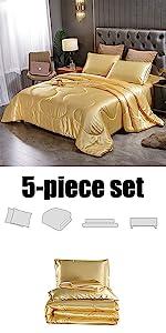 gold comforter