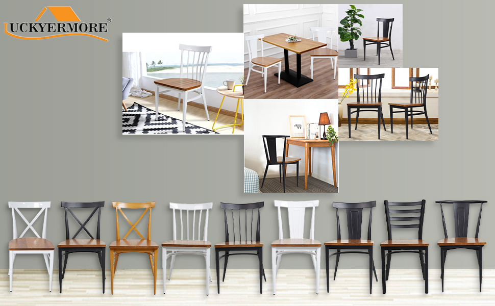 LUCKYERMORE Dining Side Chairs Set of 2