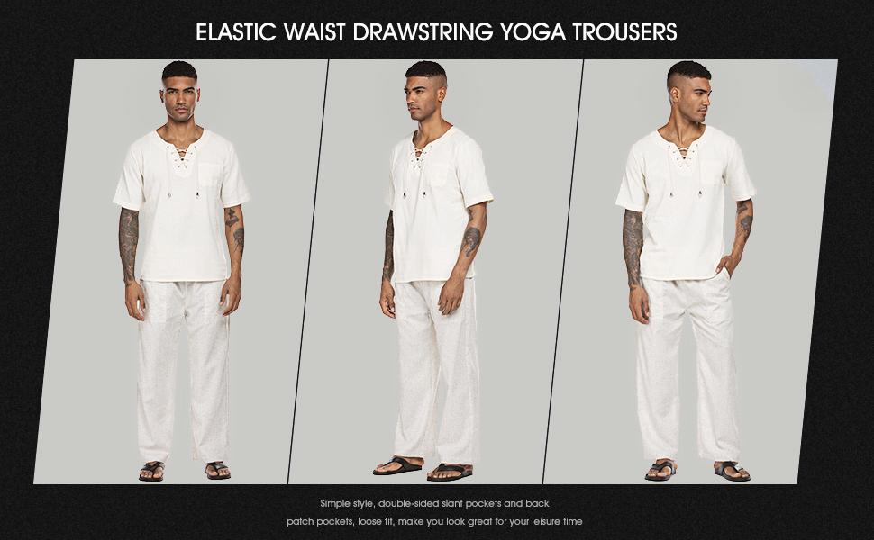 men linen pants beach yoga
