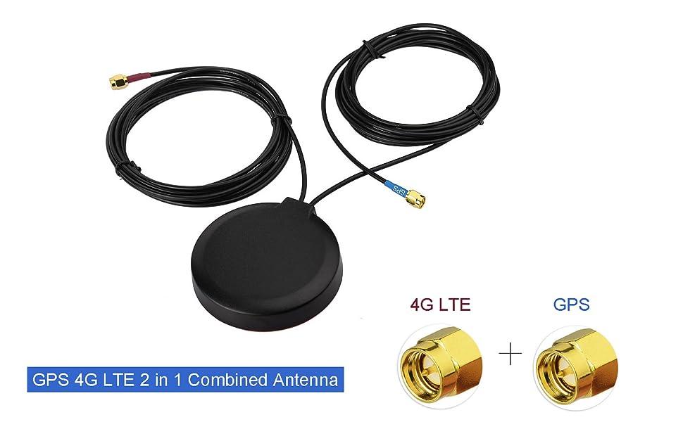 Bingfu 4G LTE Cellular GPS Adhesive Magnetic Mount Antenna
