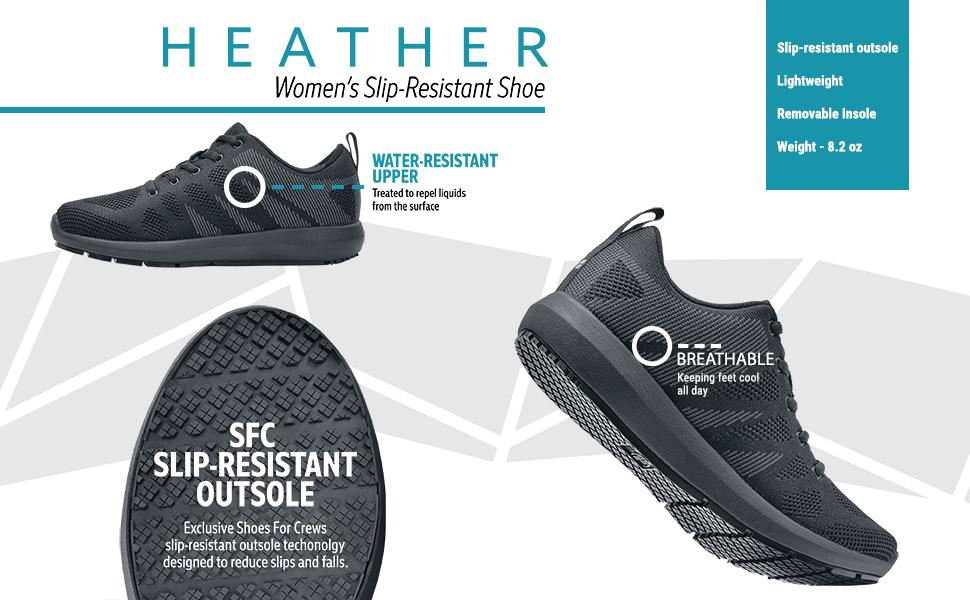 Amazon.com: Shoes for Crews Heather: Shoes