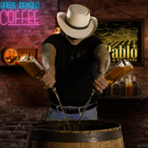 don pablo making boubron infused coffeee