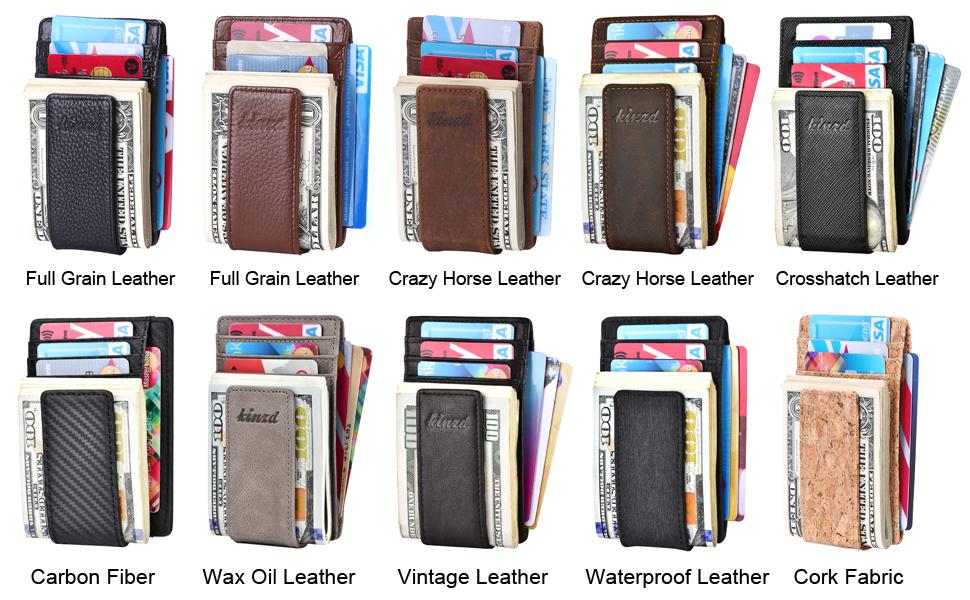 Kinzd Magnetic Money Clip Wallet