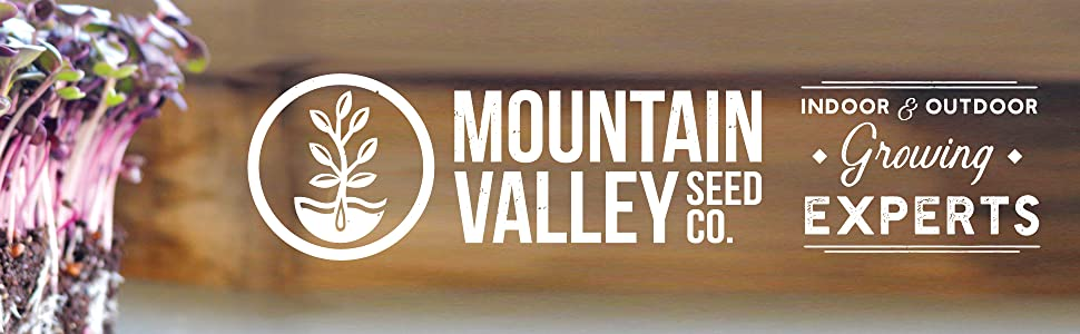 mountain valley seed company indoor and outdoor growing experts logo