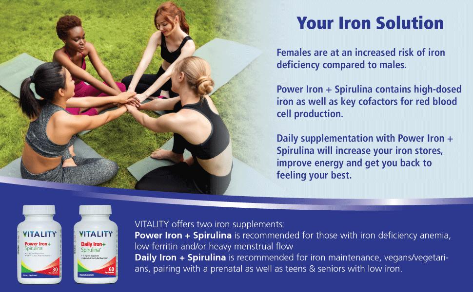 Iron Solution Power Iron + Spirulina