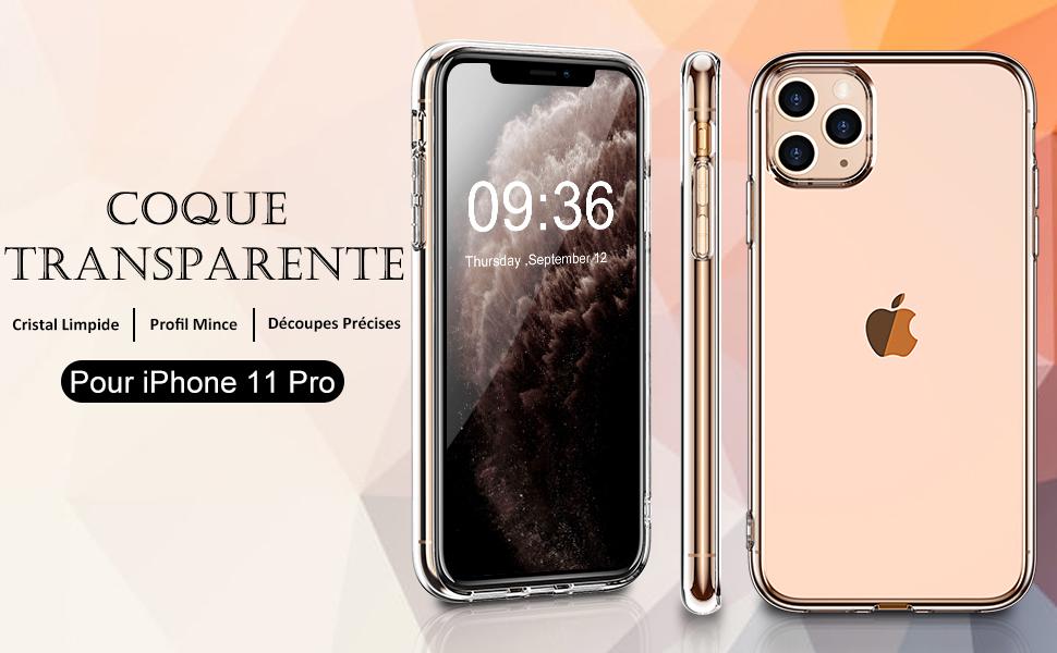 coque iphone 11 pro transparente