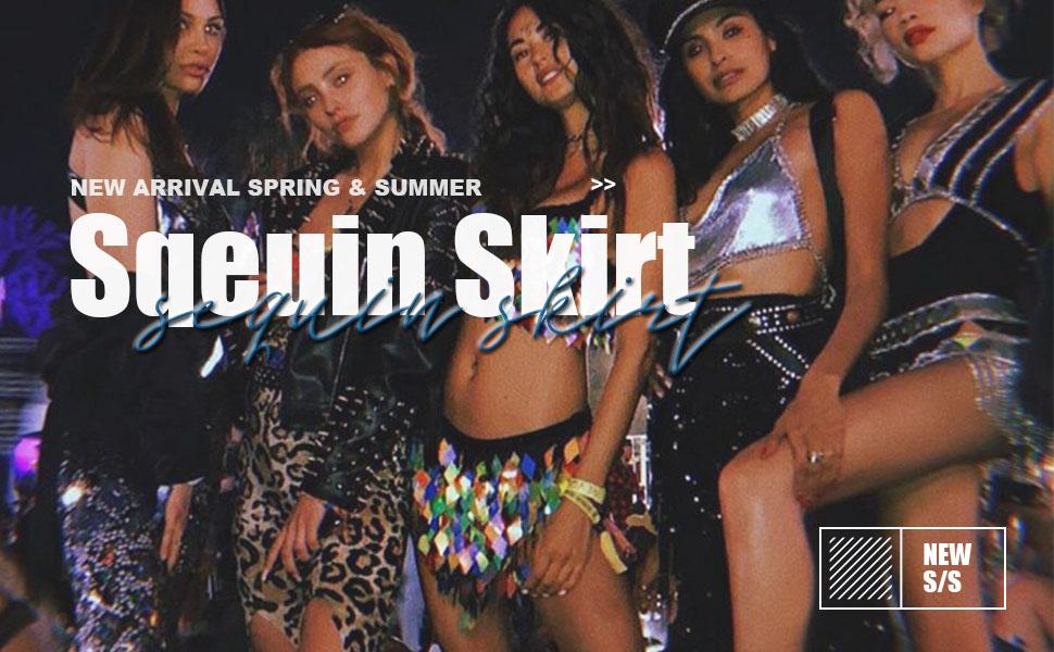 sequin tassel belly dance skirt