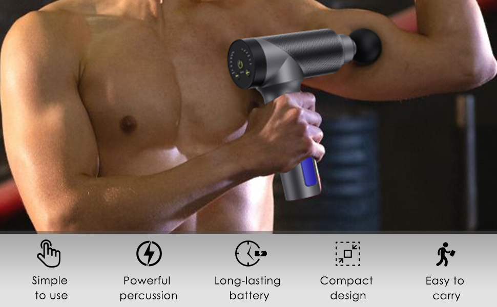 Easy to carry and simple In use massage gun