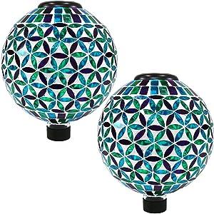set of 2 gazing globes