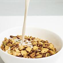 keto granola with milk