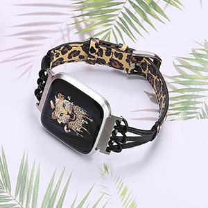 Leather Band Fitbit Versa 2 Lite Special Edition Women Men Slim Handmade Wristband Strap Bracelet