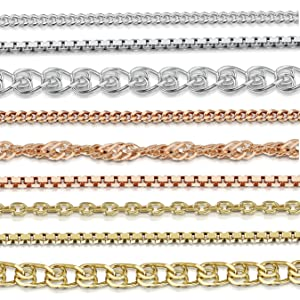 Sterling SIlver Chain for Children - 4 to 12 years old - Length: 14 inch / 36 cm