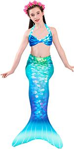 girls mermaid tails for swimming