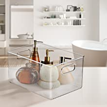 clear storage bin set