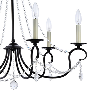A1a9 Modern 6 Light Candle Style Chandelier With Crystal Accents Simple Classic Traditional Pendant Light Kitchen Island Ceiling Light Fixture For Entryway Hallway Dining Room Foyer Dark Bronze Amazon Com