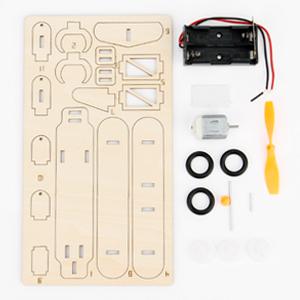 3d wooden puzzle solar power kit-8