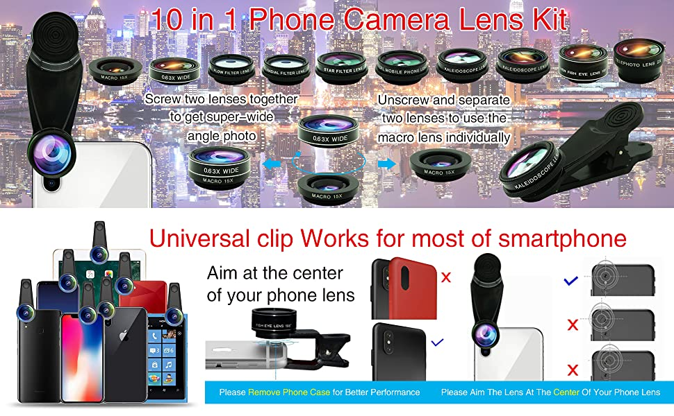 10 in 1  phone lens kit