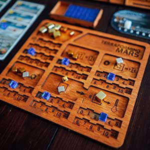 Terraforming Mars player tray made of wood by Smonex