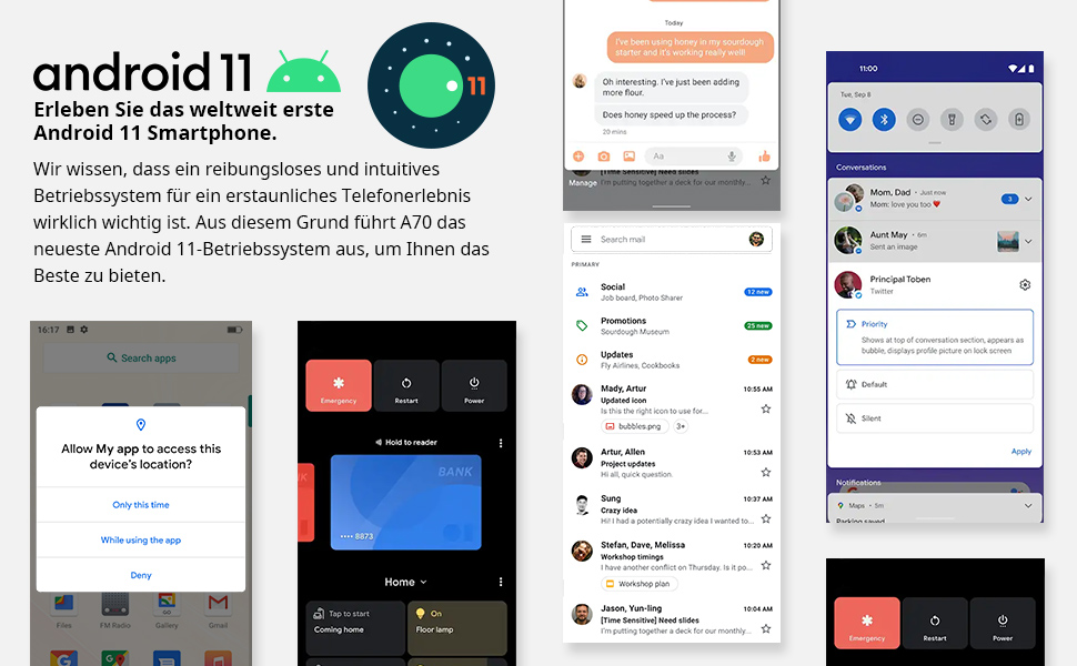 smartphone android 11