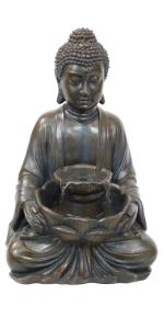 Sunnydaze Peaceful Buddha Outdoor Water Fountain