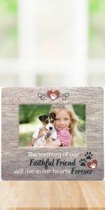 faithful friend pet memorial frame picture