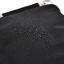 The toiletry bag is water repellment to keep your cosmetics safe .