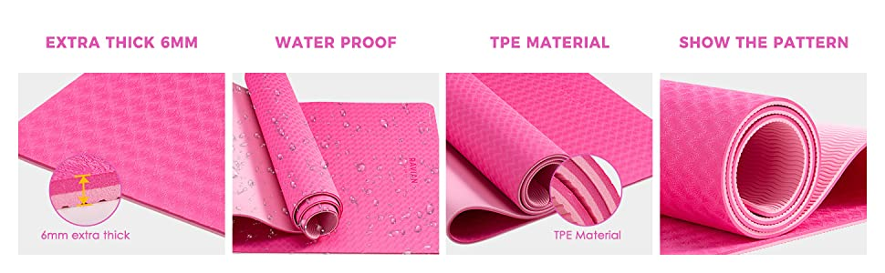 thick non slip waterproof  dual color mat