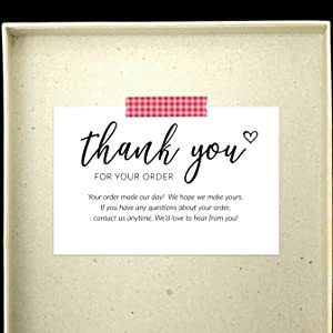 thank you for your order cards