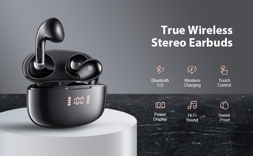 Lermom wireless earbuds P2-01