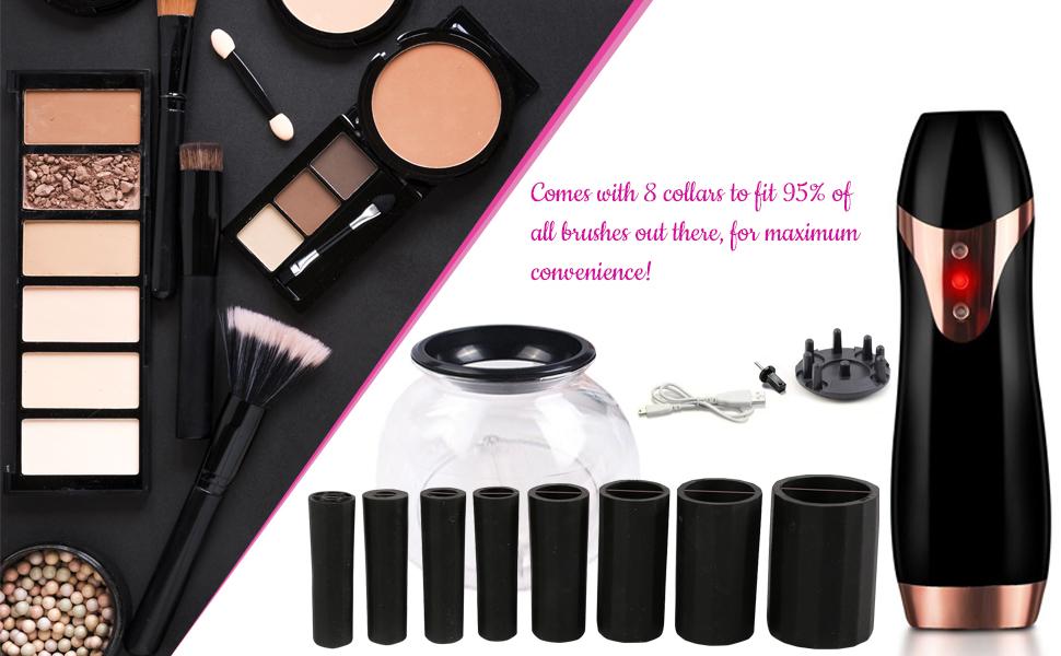 makeup brusher cleaner collars