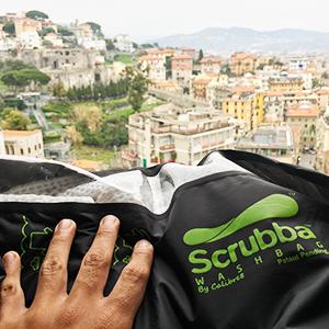 Scrubba hotel washing clothes