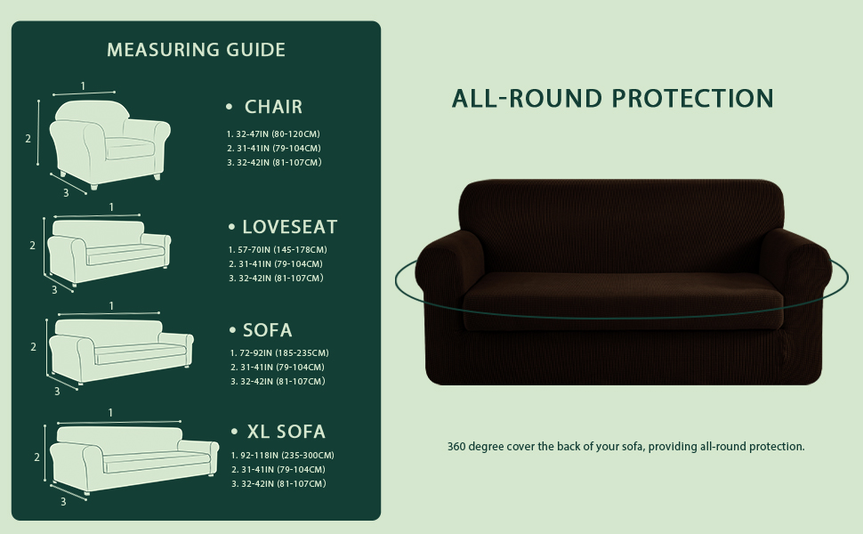 3 Seater Comfort Stretch Coffee Sofa Covers Protector Couch Cover Slipcover MA