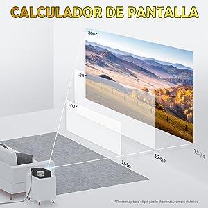 """luximagen fuhd230, calculador de pantalla, gran tamaño de pantalla, corta distancia, hasta 300"""""""