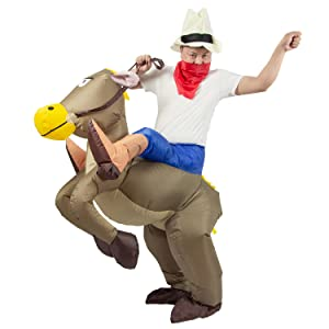 BROWN HORSE RIDER BLOW UP