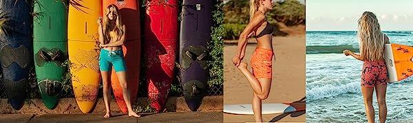 Maui Rippers, womens shorts, swimshorts, boardshorts, swimwear, fun swim, beachwear